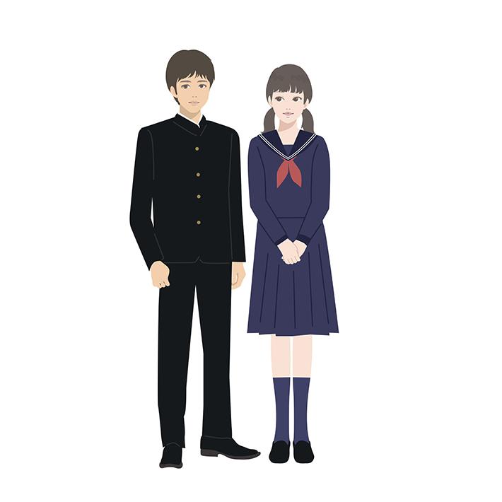 学生服の男女の写真